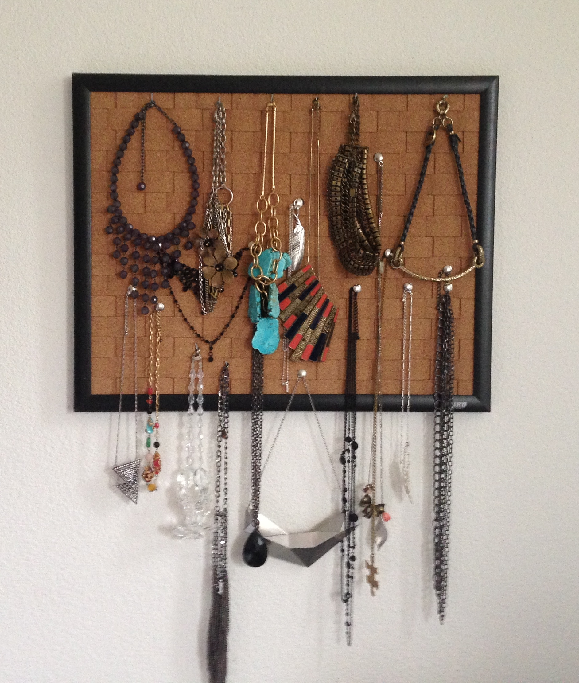 pin your necklaces the easiest DIY jewelry holder beauty and sass