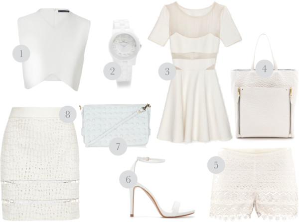 summer white fashion