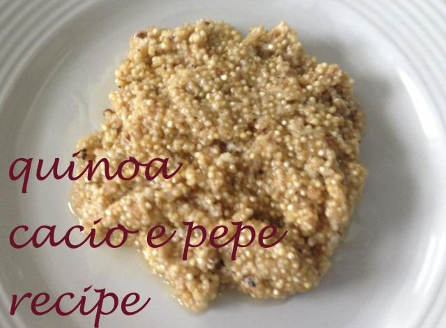 quinoa caco e pepe