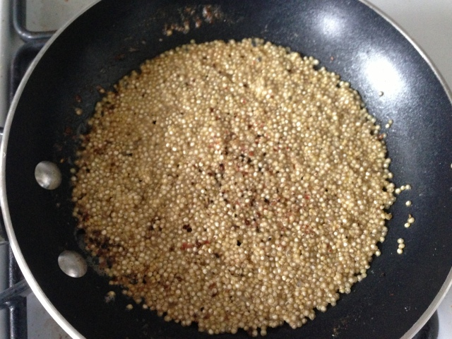quinoa in butter
