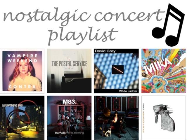 nostalgic concert playlist