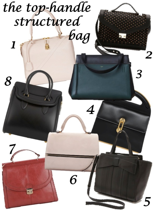 top handle structured bag