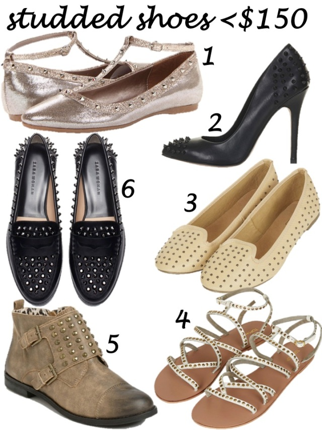 studded shoes <150