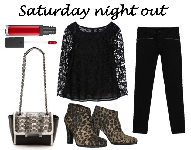 weekend essentials for Saturday night out