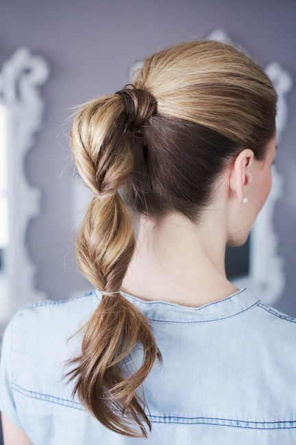 5 hairstyles for a lazy hair day - the topsy tail