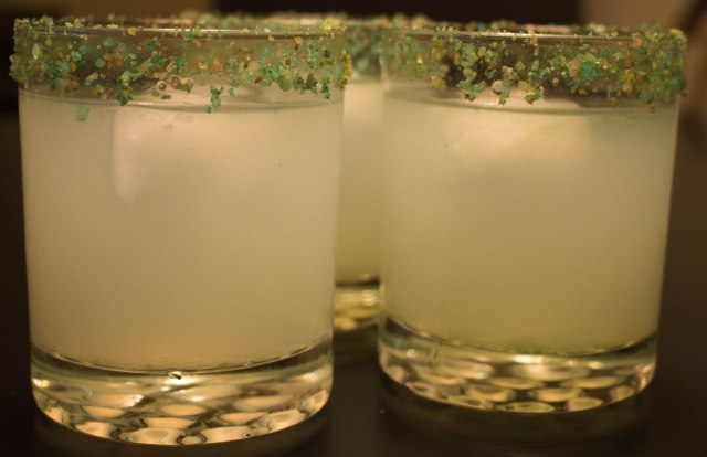 DIY colorful birthday margarita salt