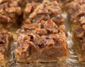 maple pecan bars_
