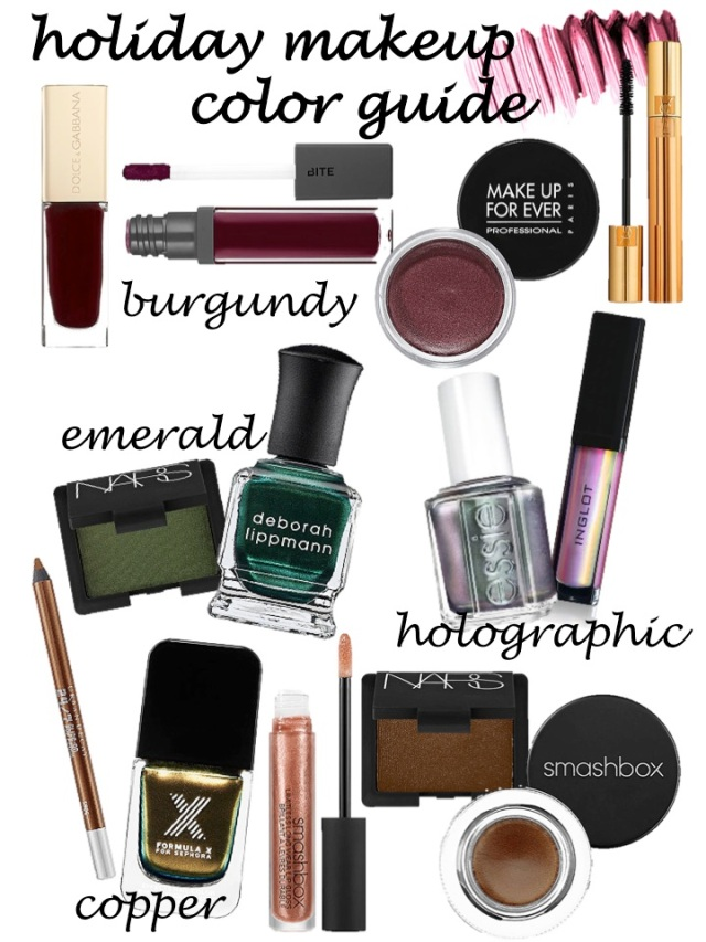 holiday makeup color guide