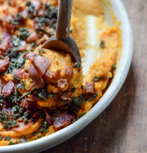 whipped bourbon bacon sweet potatoes