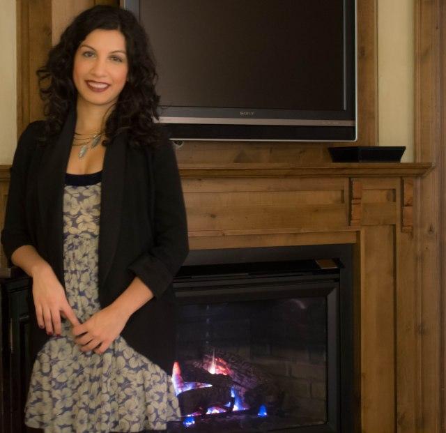 Aspen fashion - dress with blazer