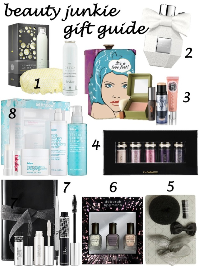 beauty junkie gift guide