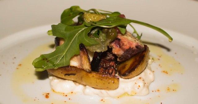 charred octupus at Chef's club Aspen