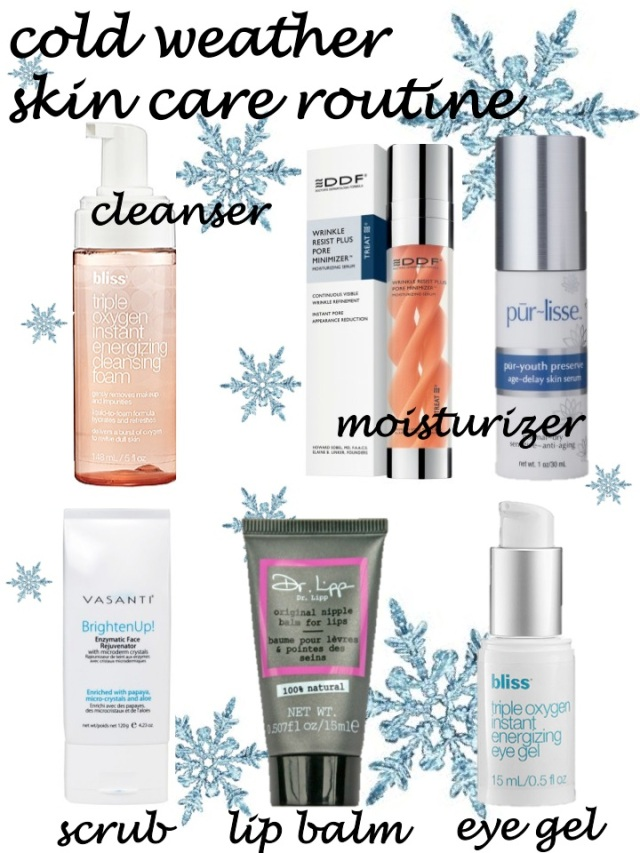 cold weather skin care routine by beauty and sass
