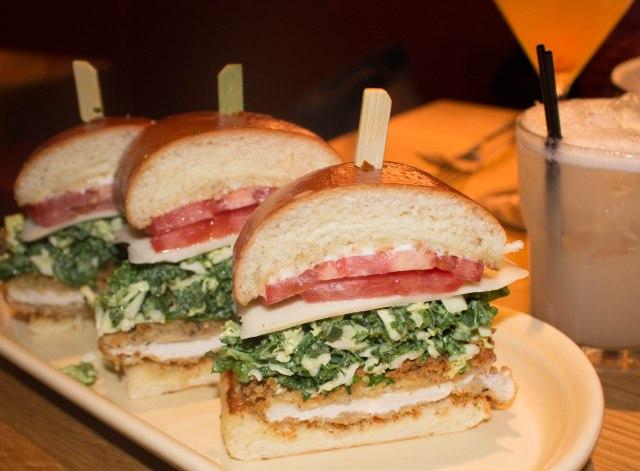 crispy chicken sandwich at White House Tavern in Aspen