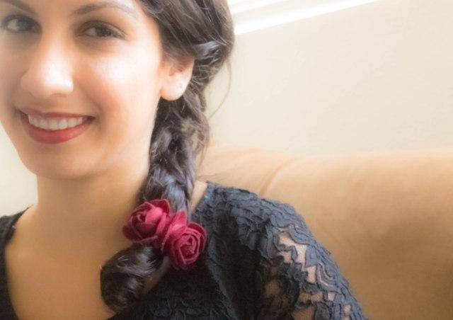 DIY rose hairband