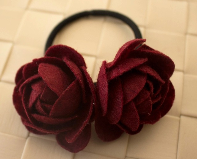 DIY rose hairband