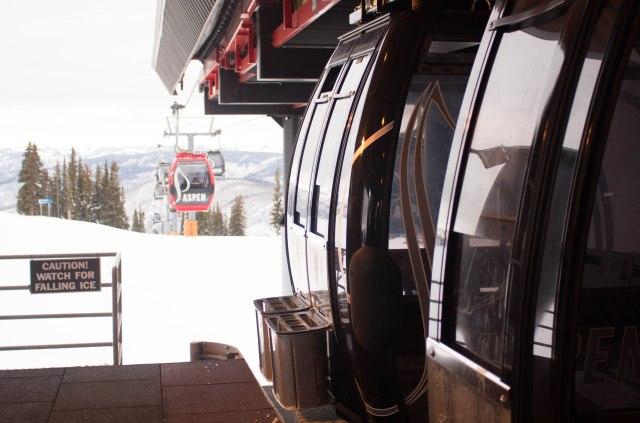 Gondola up Aspen Mountain