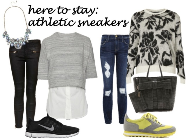 trends that are here to stay - athletic sneakers