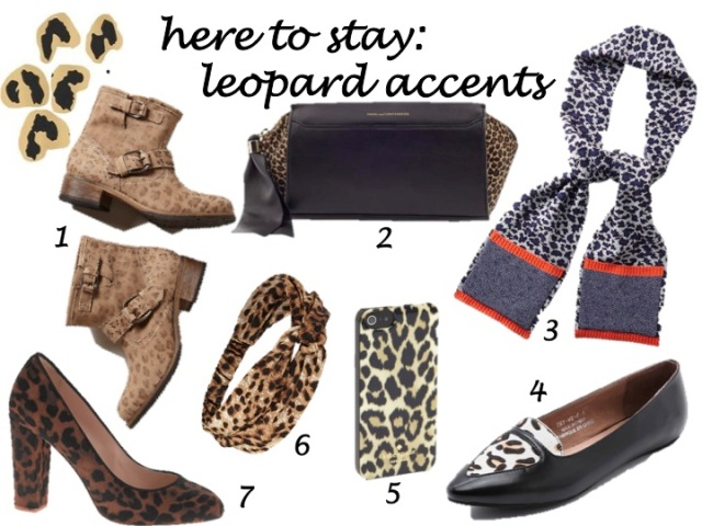 trends that are here to stay - leopard accents