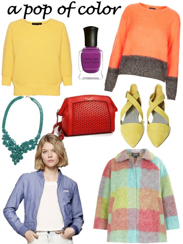 a pop of color can add sunshine to your winter wardrobe