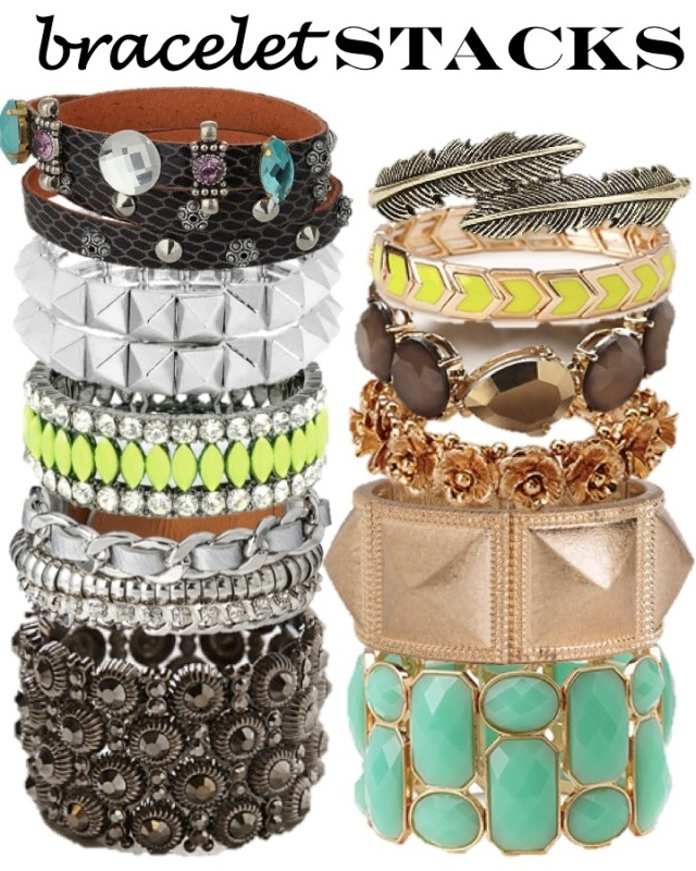bracelet stacks via beauty and sass