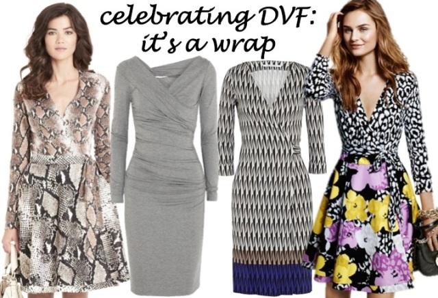 celebrating DVF wrap dress anniversary