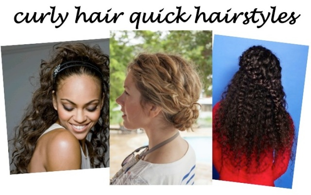 curly hair quick hairstyles via beauty and sass
