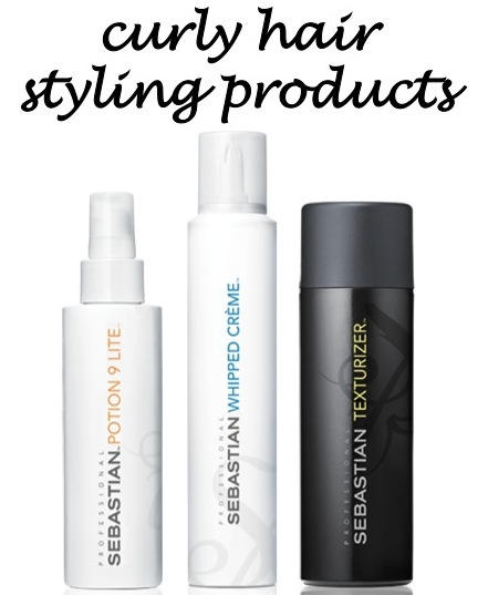 curly hair styling products via beauty and sass