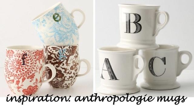 DIY monogram mug inspiration