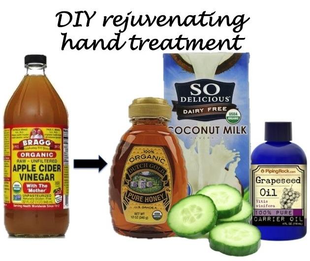 DIY rejuvenating hand treatment
