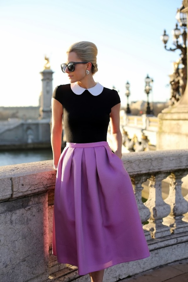 layer a dress and skirt via Atlantic-Pacific