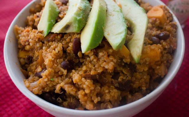 quinoa and sweet potato vegetarian (and gluten free) chili