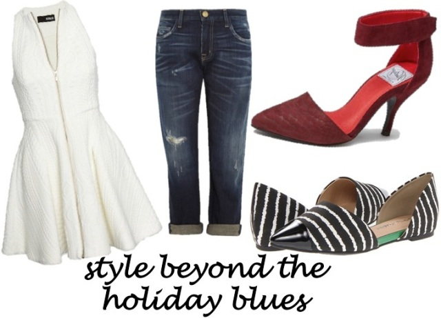 upgrade your style beyond the holiday blues