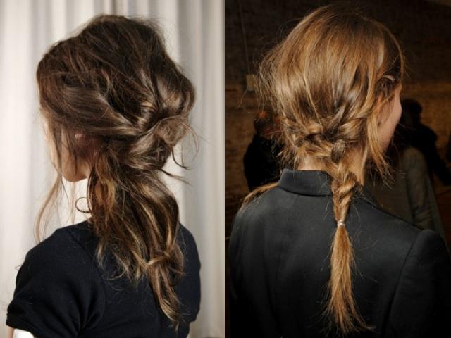 braids and twists on the side pony
