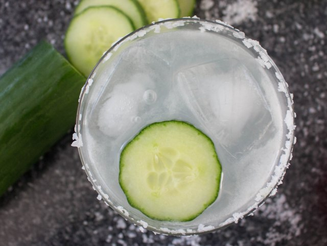 simple margarita, cucumber
