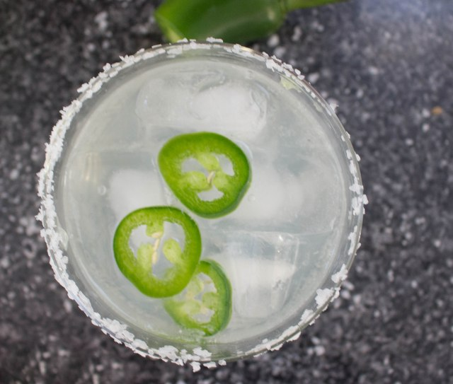 simple margarita, spicy