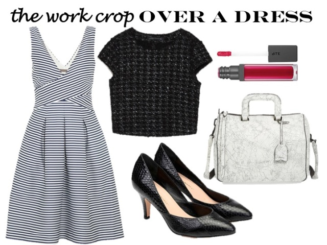 work the crop top - over a dress