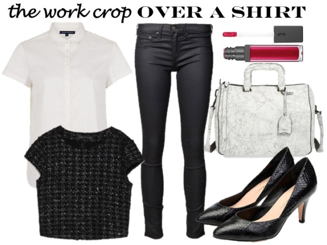 work the crop top - over a shirt