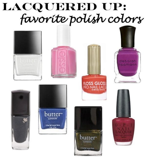 getting lacqured up - nail polish colors of the moment