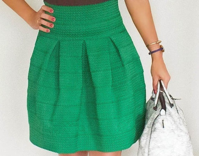 green anthropologie skirt via beauty and sass