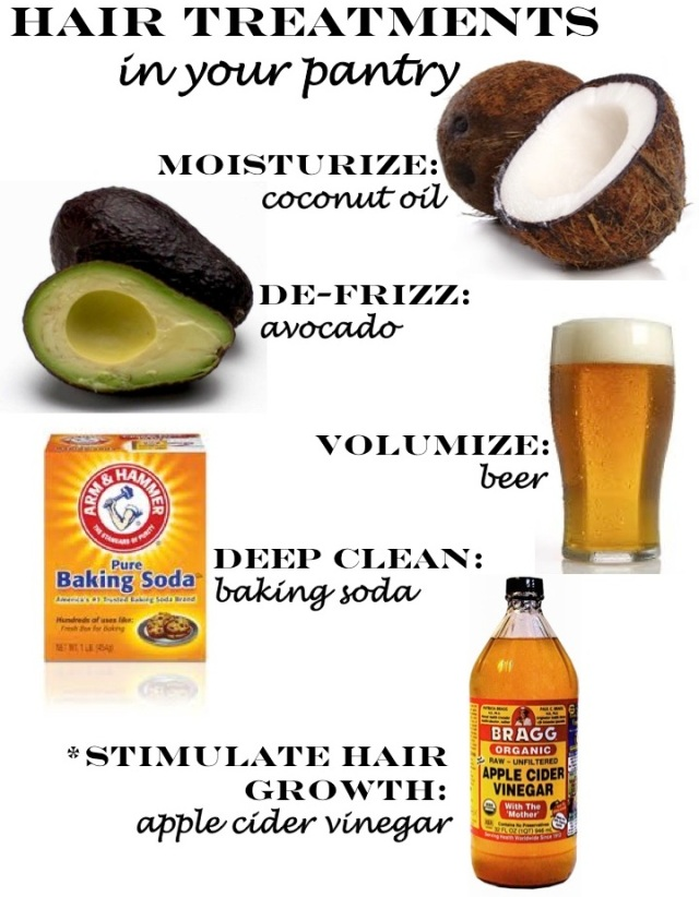 hair treatments using products in your pantry