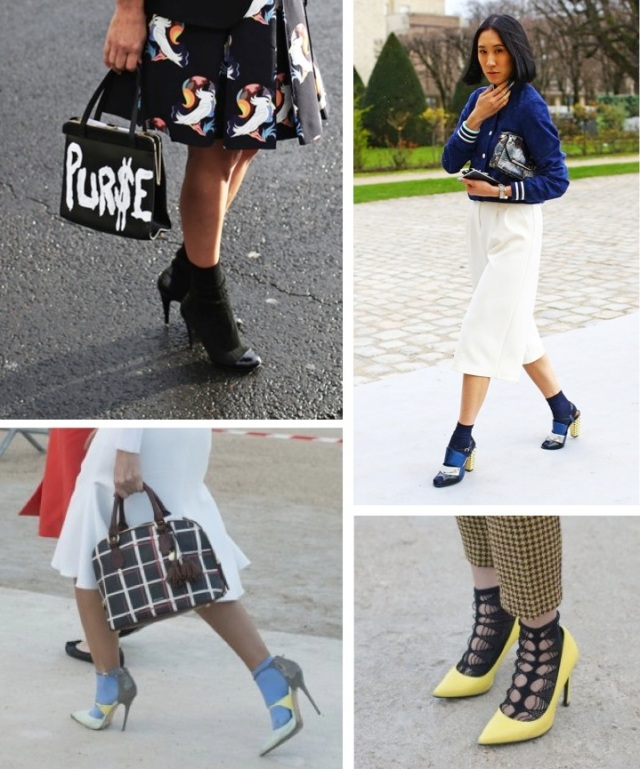 Paris Fashion Week Socks & Stilettos