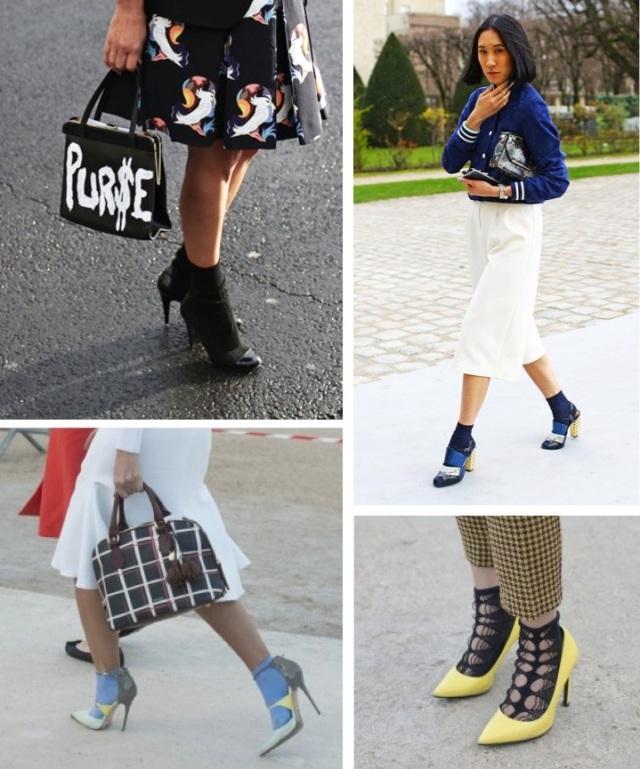 Paris Fashion Week Socks & Stilettos