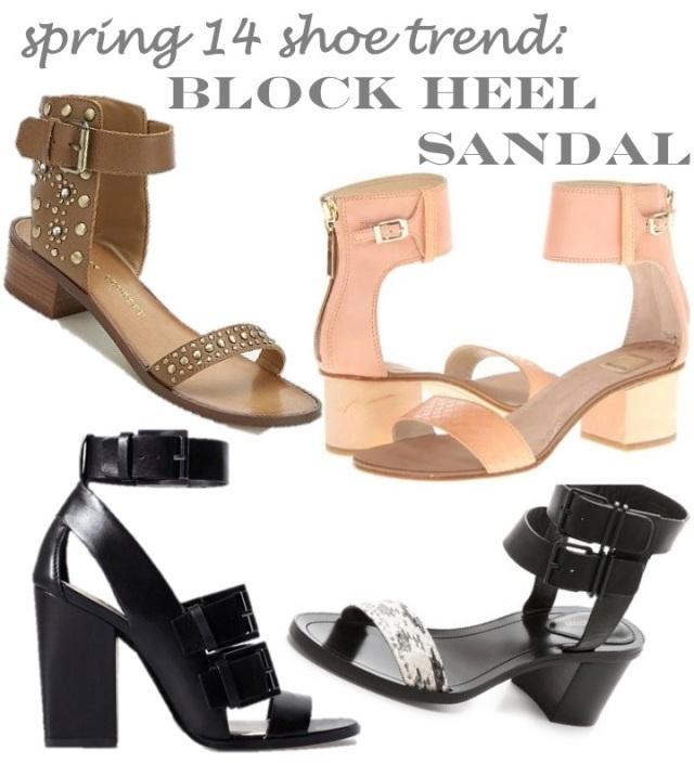 spring 14 shoe trends- block heel sandal