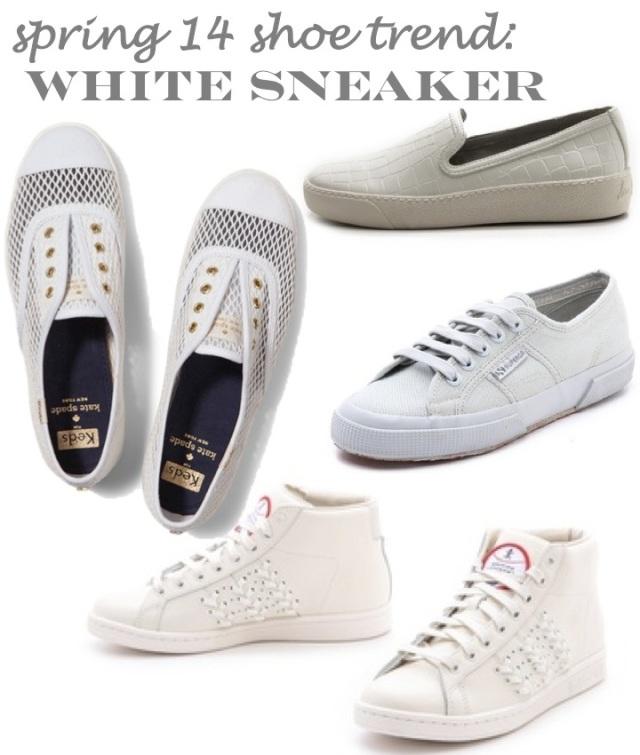 spring 14 shoe trends- white sneaker