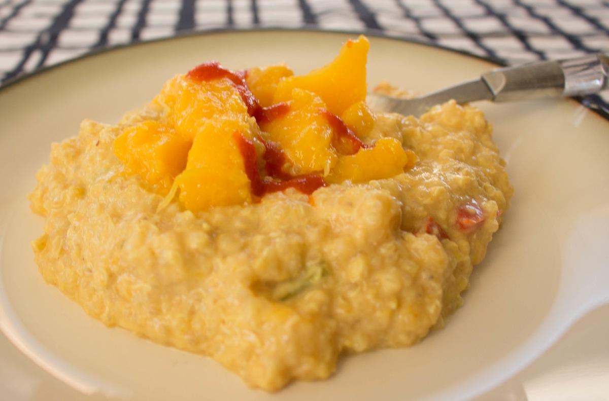 Quinoa With Mango And Curried Yogurt Recipe — Dishmaps