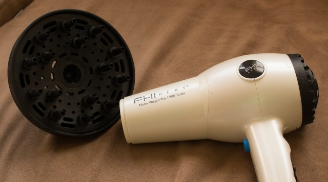 lazy girls guide to diffusing hair - attach diffuser to blow dryer
