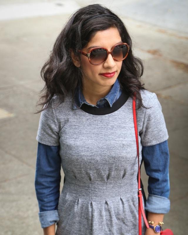 madewell dress and lanvin sunglasses via beauty and sass